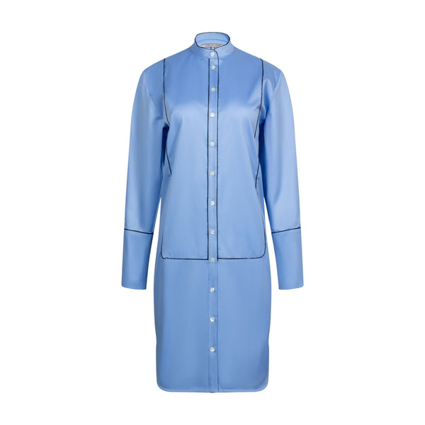 Sky Blue Shirt Dress by MAISON PERE