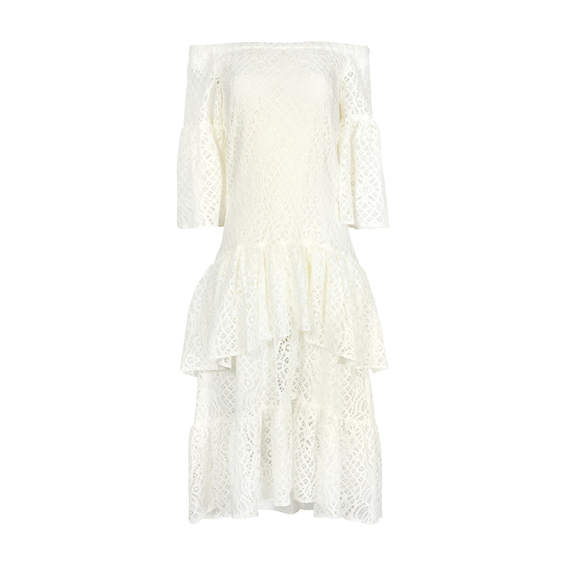 White Lace Dress by MAISON PERE