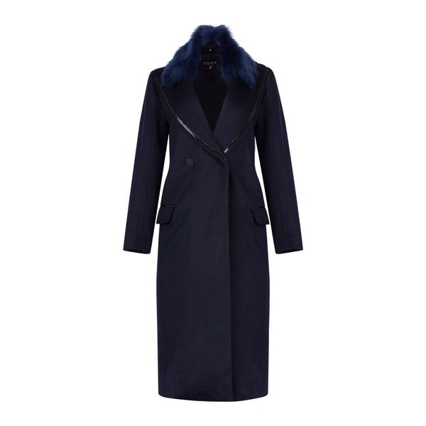 Ramona Coat Navy by TOSIA