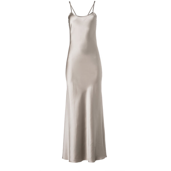 Silver Liquid Silk Slip by VOZ