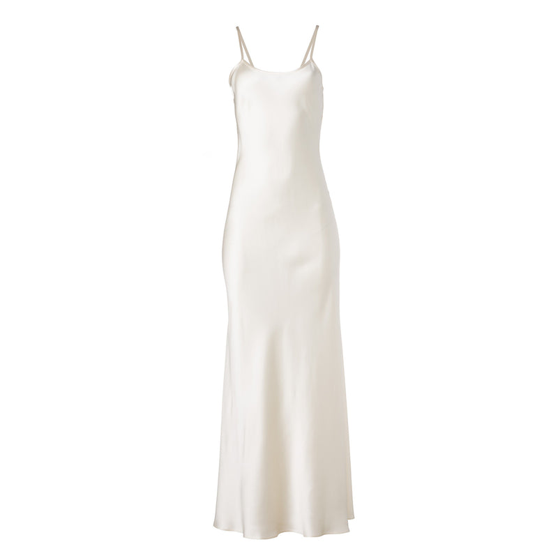 Ivory Liquid Silk Slip by VOZ