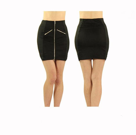 Women's All Black Standard Golf Skirt