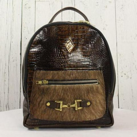 Mini Backpack - Brown Embossed
