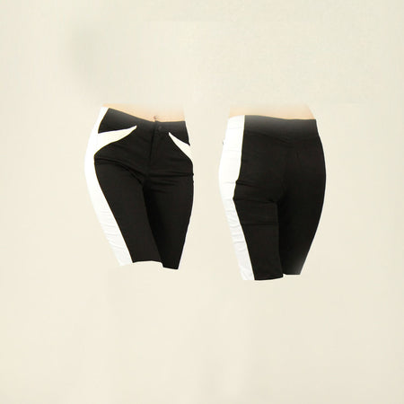 Women's Black and White Golf Shorts
