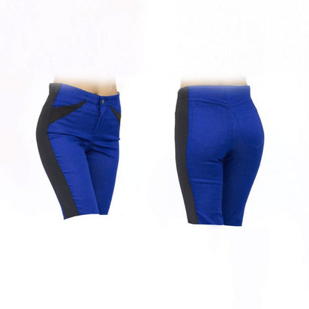 Women's Blue and Black Golf Shorts
