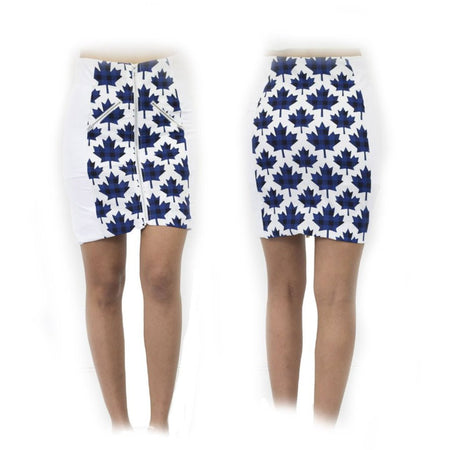 Women's Blue Canadian Maple Standard Golf Skirt
