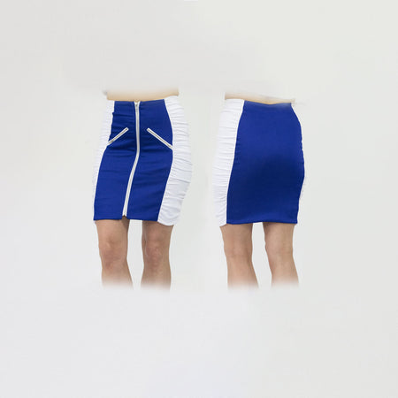 Women's Royal Blue and White Standard Golf Skirt