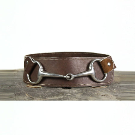 "3"" Wide Leather Belt - Brown"