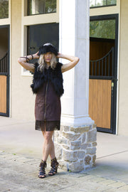 Fringe Dress With Collar