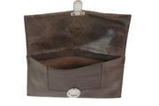 Belt Phone Pouch - Brown Leather