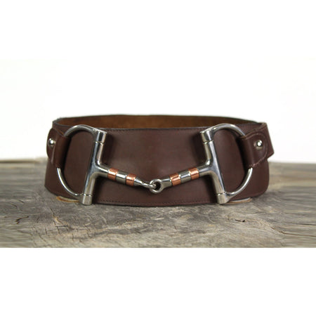 "3"" Wide Leather Belt - Chocolate Brown"