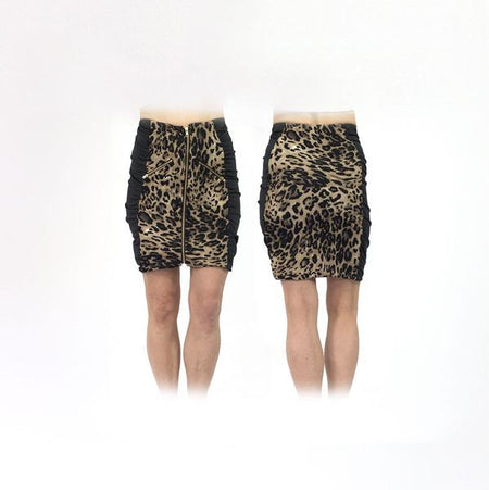 Women's Leopard Ruched Golf Skirt