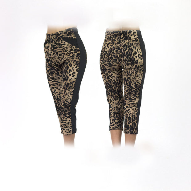 Women's Cougar and Black Golf Capris