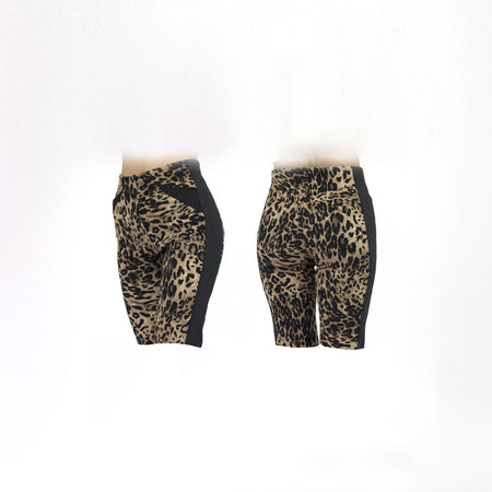 Women's Leopard and Black Golf Shorts
