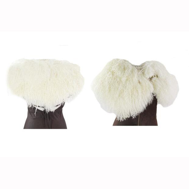 Cream Fox Fur Shrug