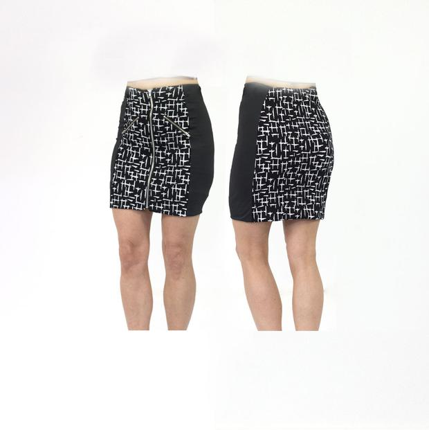 Women's Houndstooth Black Standard Golf Skort