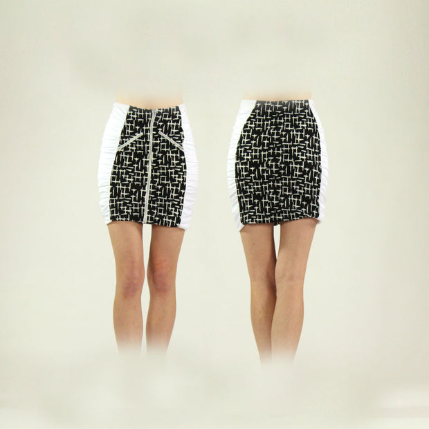Women's Houndstooth and White Standard Golf Skort