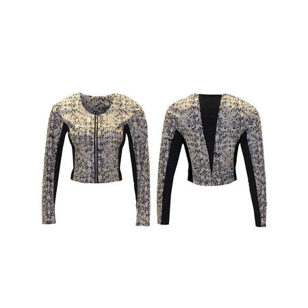 Women's Snake Print Golf Jacket