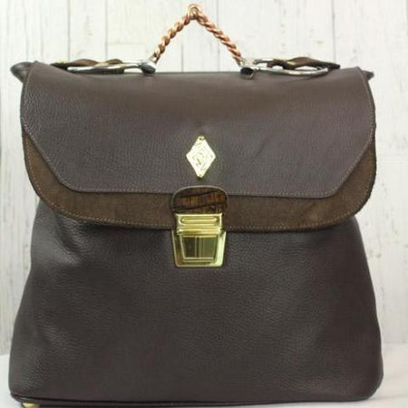 Equestrian Backpack- Dark Brown