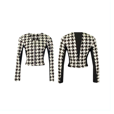 Women's Houndstooth Golf Jacket