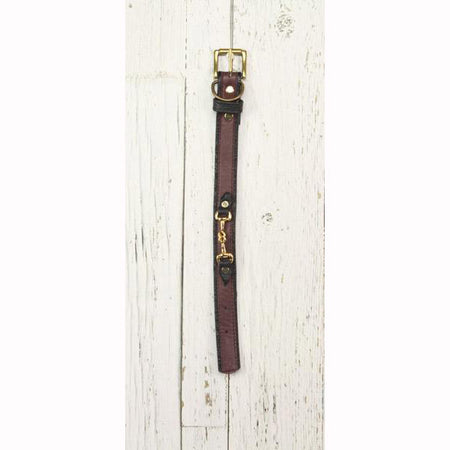 Eggplant Leather Dog Collar (Small Horsebit)