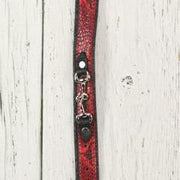 Red Leather Dog Collar (Small Horsebit)