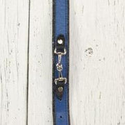 Royal Blue Leather Dog Collar (Small Horsebit)