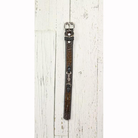 Brown Leather Dog Collar (Small Horsebit)