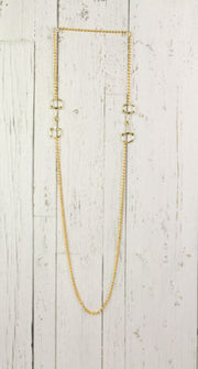Long Horse Bit Chain Necklace