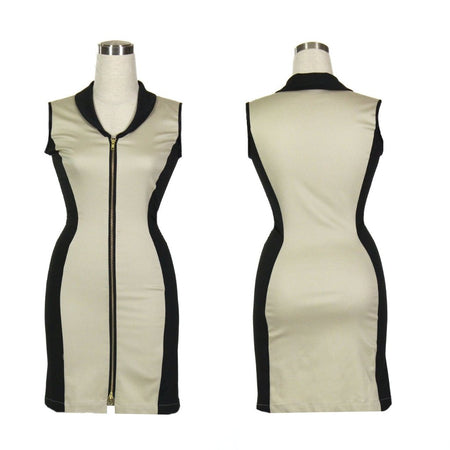 Women's Tan and Black Sleeveless Golf Jacket