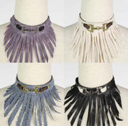 Necklace & Leather Anklet set with or without Fringe