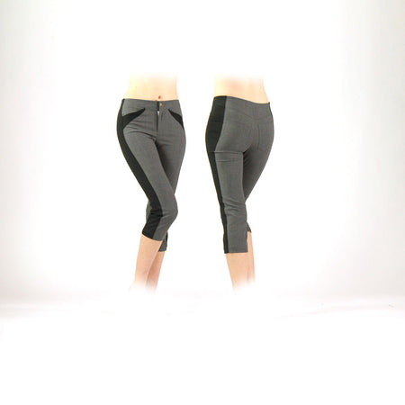 Women's Grey and Black Golf Capris