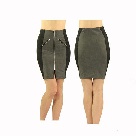 Women's Grey and Black Standard Golf Skirt