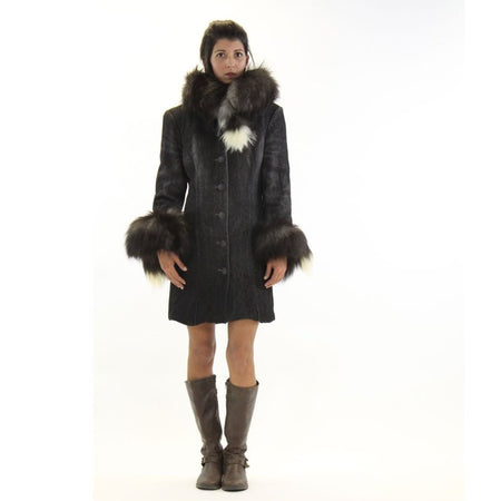 Winter Coat With Fur Collar