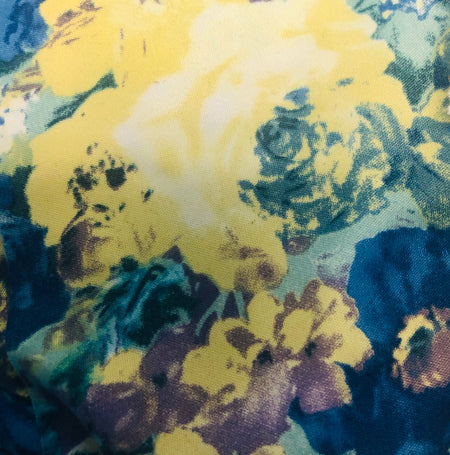 (Limited Edition) Blue Yellow Flowers Print Face Mask