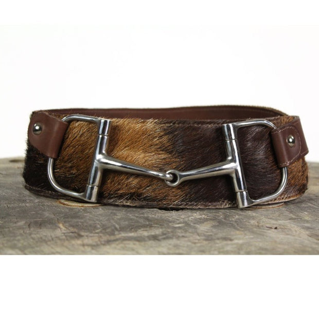 "3"" Wide Leather Belt - Brown Cowhide"