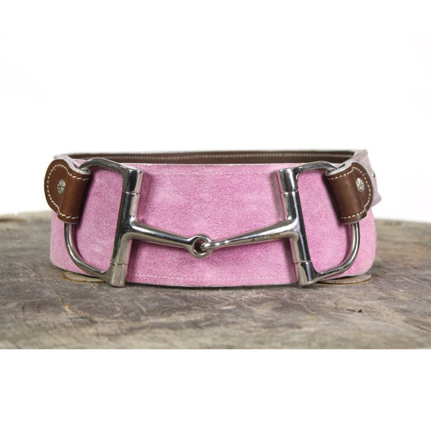 "3"" Wide Leather Belt - Pink"