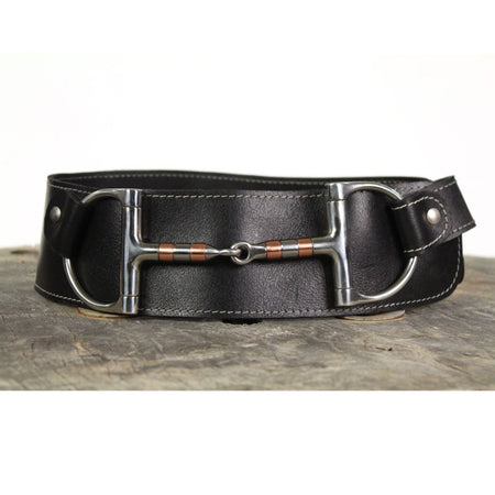 "3"" Wide Leather Belt - Black"