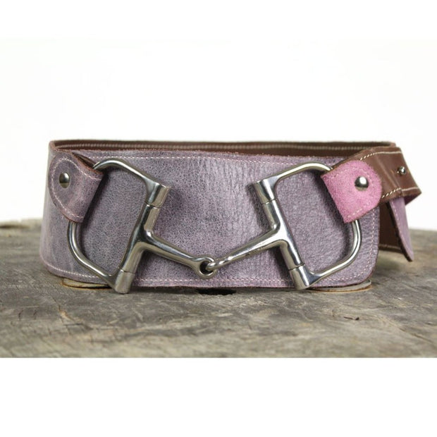 "3"" Wide Leather Belt - Purple"