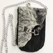 Flap Clutch With Gusset- Black