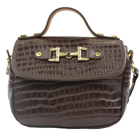 Mini Saddle Bag - Brown Leather