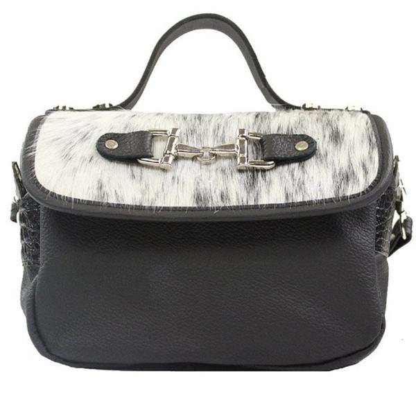 Mini Saddle Bag - Black & White