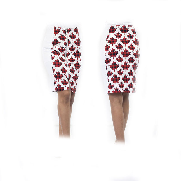 Women's Red Canadian Maple Standard Golf Skort