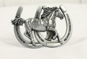 Double Horseshoe belt buckle- sliver