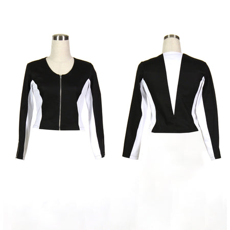 Women's Black and White Golf Jacket