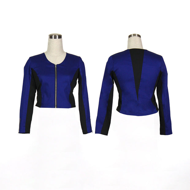 Women's Blue and Black Golf Jacket