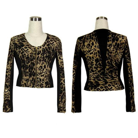 Women's Leopard and Black Golf Jacket