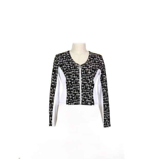 Women's Houndstooth and White Golf Jacket