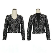 Women's Houndstooth Black Golf Jacket