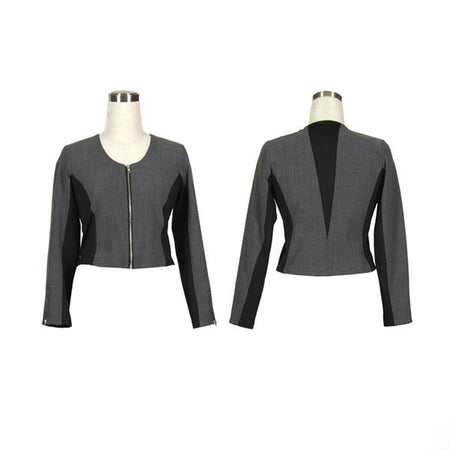 Women's Dark Grey and Black Golf Jacket